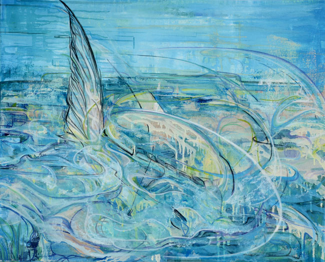 Permit Painting Tailing Permit Giclee Saltwater Fish Art